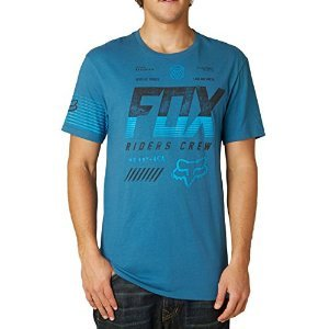 Fox Racing Mens Escaped Premium Short-Sleeve Shirt 2X-Large Blue Steel