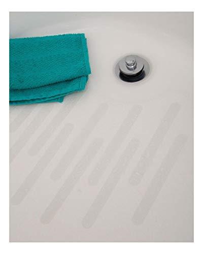 Clear Bath Tub Shower Treads - 7.5 inch Non Slip Anti Skid Safety Applique Strips Grip by Unknown