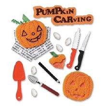 Jolee's Boutique Dimensional Stickers, Pumpkin Carving