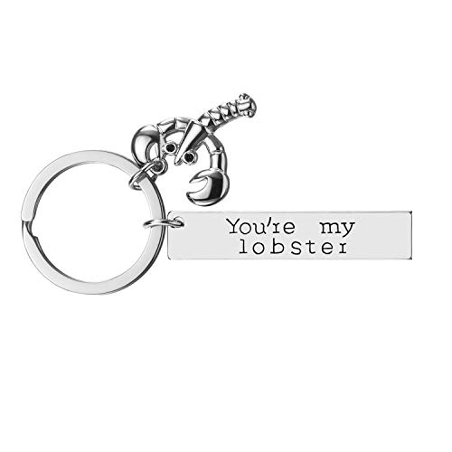 iWenSheng Best Friend Gifts for Women - You are My Lobster Friendship Key-Chain, Birthday Gifts for Best Friend BFF Jewelry (1#)