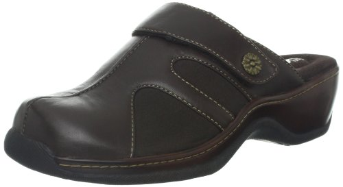 Clog SoftWalk Dark Acton Synthetic Women's Brown OTwv0q