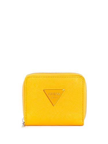 Guess Factory Women's Abree Triangle Logo Small Zip-Around Wallet ()