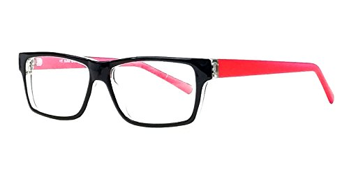 Soho 1017 in Black & Crystal Red Designer Reading Glass Frames ; Demo - Frames Soho Eyeglass