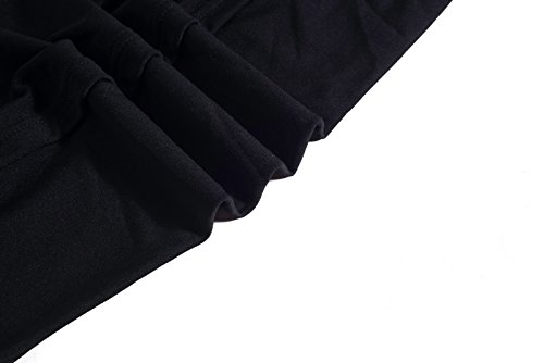 Vestidos Coctel V Invierno a Recto Cuello Ocasionales Dress Casual Blanco 1950s Hepburn Atada Negro Midi Ceremonia Negro Elasticidad Cintura Rojo Trabajo Falda Mangas la Beauty7 Largo Profundo d1wqYd