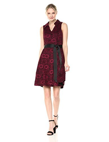 BEE ROBBIE Dress Flare Wine and Women's Fit Sleeveless Black Shirt 7qwrxdqCHT