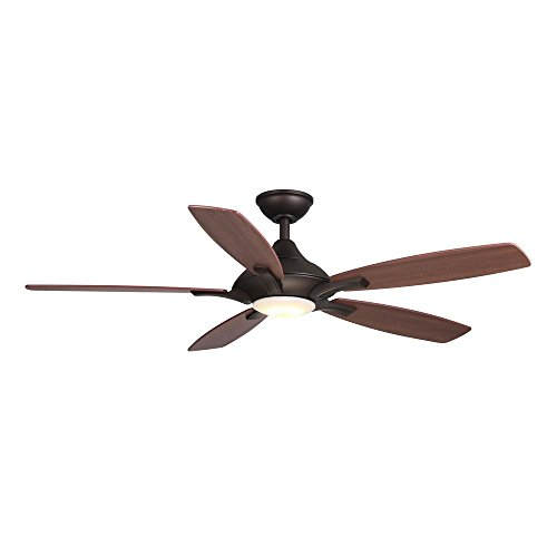 Home Decorators Collection Petersford 52 in. LED Oil-Rubbed Bronze Ceiling Fan