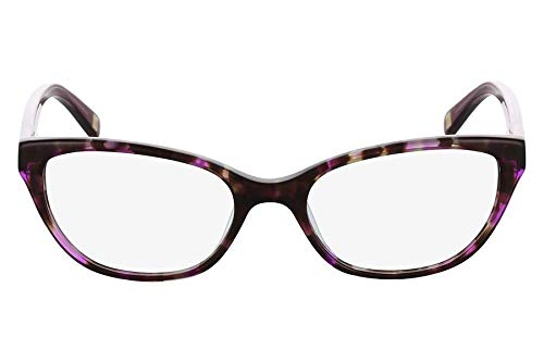 Óculos Marchon Nyc M-Chantelle 215 Tartaruga Roxo Lente Tam 51