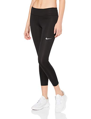 Nike Women's Fast Crop, Black/Reflective Silver, Large