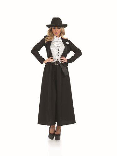 Sheriff Officer Cop Wild West Female Fancy Dress Costume - L (US 14-16) (Wild West Fancy Dress)