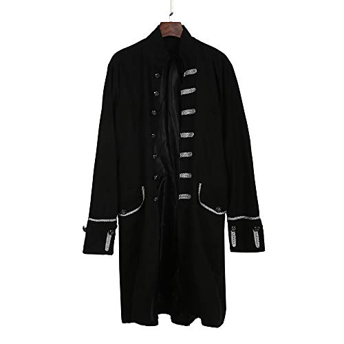 Electri vêtements Veste Outwear Mode Costume Partie Coat 3 Praty Manteau Blouson Redingote Hiver D'extérieur Gothique Jacket Uniforme Goth Steampunk Homme Rétro Noir Chaud rXrwx4gq