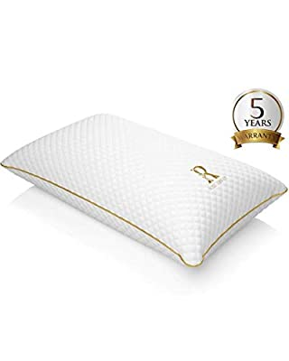 Royal Therapy Memory Foam Pillow, Neck Pillow Bamboo Adjustable Side Sleeper Pillow for Neck & Shoulder, Support for Back, Stomach, Side Sleepers, Orthopedic Contour Pillow by Pharmonis USA LLC
