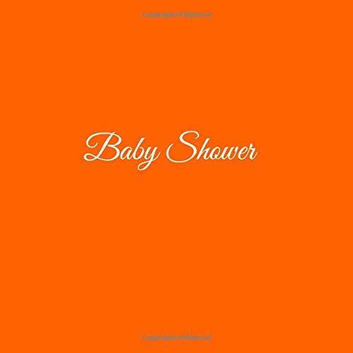 Libro De Visitas Baby Shower ideas regalos decoracion accesorios fiesta firmas invitados baby shower bautizo bebé niño niña 21 x 21 cm Cubierta Naranja ...