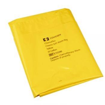 Covidien Chemoplus Chemo Soft Waste Bag, Yellow, 20 Gal, 4 Mil, 100/cs