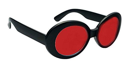 WebDeals - Oval Round Retro Sunglasses Color Tint or Smoke Lenses (Black, - Black Oval Lens