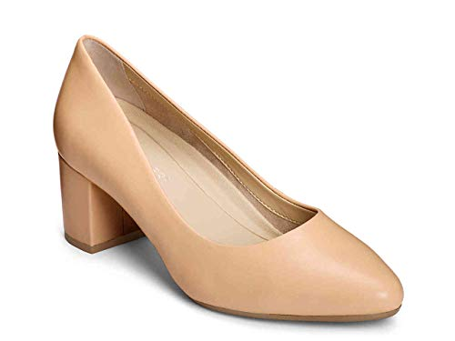 - Aerosoles Women's Silver Star Pump, LT TAN Leather, 6 M US