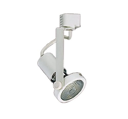 NICOR Lighting Gimbal Ring Head 50-Watt Directional Track Light Head, White (Directional Track Head)