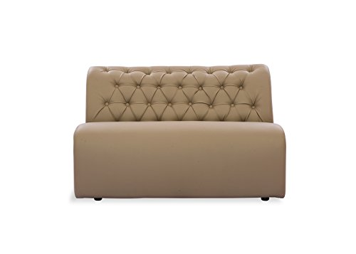 Durian Bid Leatherette Two Seater Sofa for Living Room  Biege