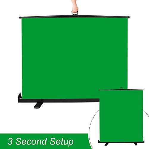 Emart Green Screen, Collapsible Chromakey Panel for Photo Backdrop Video Studio,Portable Pull Up Wrinkle-Resistant Greenscreen Background, Auto-Locking Air Cushion Frame, Solid Safety Aluminium Base by EMART (Image #1)