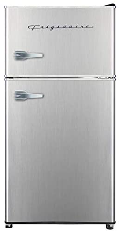 Frigidaire EFR341, 3.2 cu toes 2 Door Fridge and Freezer, Platinum Series, Stainless Steel, Double