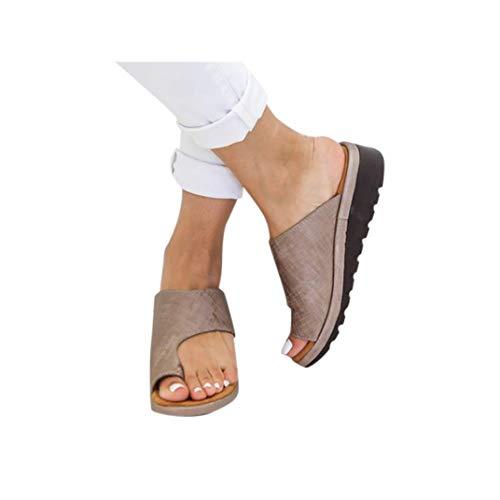 Women's Aditi Low Wedge Casual Flip Flops Wedges Open Toe Ankle Sandals Platforms Beach Shoes Roman Slippers -