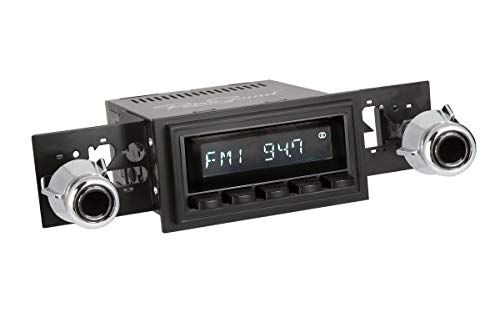 Retro Manufacturing Long Beach Radio with Black Face and Pushbuttons, Bezel & Knobs Kit LB-M4-226-55-75