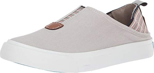 Blowfish Munky Women's Slip On,Sand Grey Smoked Canvas,8.5