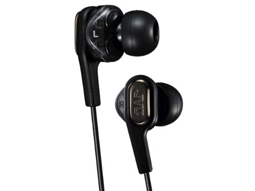 JVC HA-FXT90 Marshmallow Inner-Ear Earbuds with Microphone & Remote (Black) by JVC