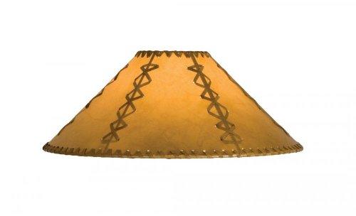 Meyda Tiffany 26354 Faux Leather Hexagon Lamp Shade, 15