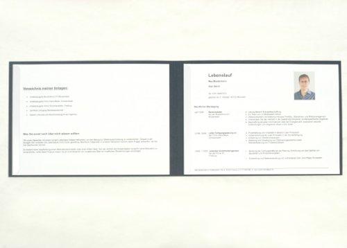 Für Querdenker: 2-Teilige Bewerbungsmappe / Präsentationsmappe Im
