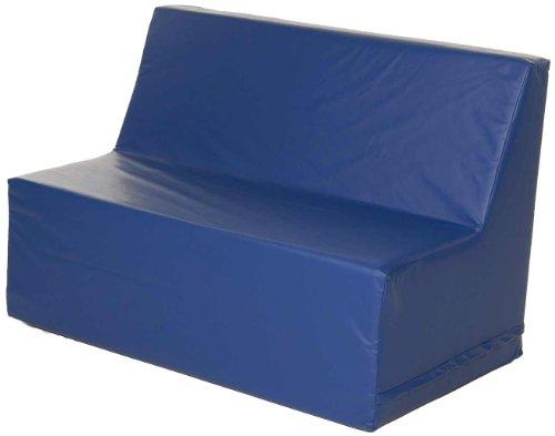 Blue Vinyl Sofa - 1