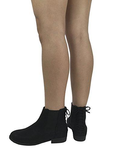 Città Classificata Da Donna Caviglia Chelsie Stivaletto Tacco Largo In Pelle Sintetica Tacco Nero