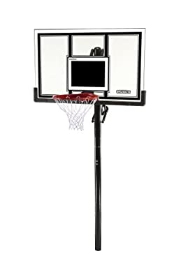 Lifetime 71524 XL Height Adjustable Basketball System, 54 inch Shatterproof Backboard | Popular Toys