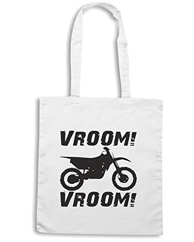 VROOM Shirt Speed Borsa TB0136 Bianca VROOM Shopper qaPXWwxH4n