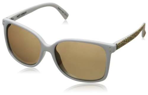 VonZipper Women's Castaway Oval Sunglasses,Party Animal White Gold,56.8 - Von Zipper Sunglasses White