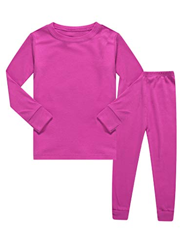- Kids Pajamas Boys & Girls Solid Colors 2 Piece Pajama Set 100% Cotton Pink Size 7