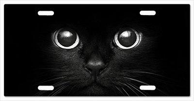 Cat Eye License Plate Frame - Black Cat Eyes Vanity License Plate