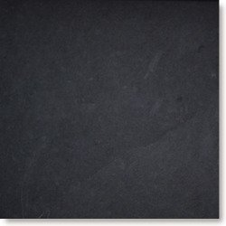 "Brazilian Black ( Montauk Black ) Cleft Slate Tile 12""x12"""