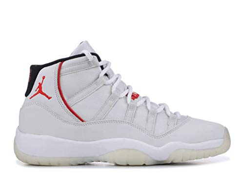 Jordan Kid's Air 11 Retro GS, Platinum Tint/SAIL-University RED, Youth Size 5 by Nike (Image #2)