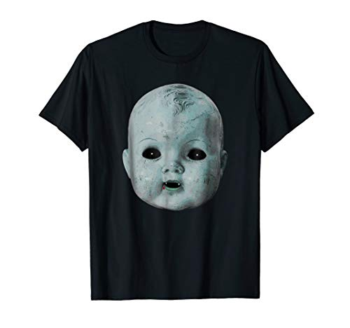 (Scary Doll Head Shirt Creepy Halloween Vampire Baby Costume)