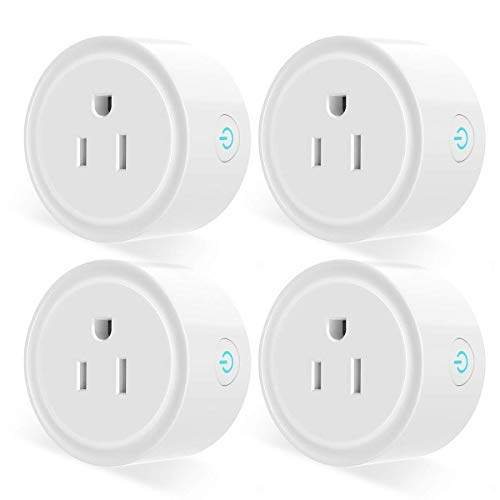 Smart Plug, Mini Smart Wifi Outlet Works with Alexa, Google Home & IFTTT, Timer Schedule, No Hub Required, Remote Control Your Home Appliances from everywhere, only supports 2.4GHz network(4 Pack)