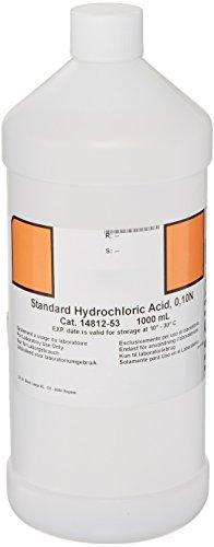 Hach 1481253 Hydrochloric Acid Standard Solution, 0.10 N, 1 L