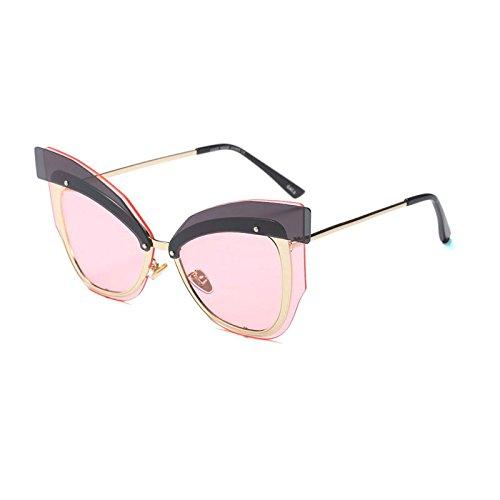Metal Sol ZHANGYUSEN de Diseño Negro Medio de Bastidor de Grandes 4 Gafas Calidad Lente400 de 2 Moda Mariposas Gafas Alta Sol Caliente de Dama Coloridas UV RXRrq