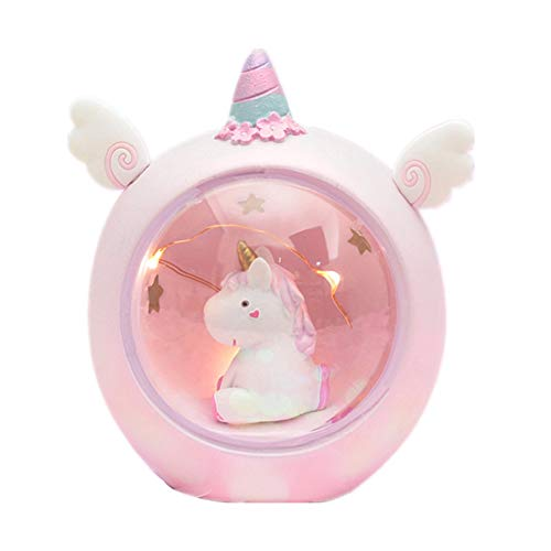 Baby Night Light,Cute Pink Unicorn LED Resin Night Light for Kids, Baby Girls Toy Creative Home Decoration as a Birthday Christmas Valentine's Day Gift (Decorations Christmas Gifts And)