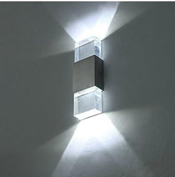 Unimall Applique Murale LED Lampe Murale 6W En Aluminium Lampe Moderne  Luminaire Intérieur Extérieur Decorative Pour