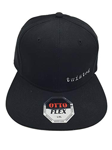 Twisted Logo Flex Fit Hat L/XL Black