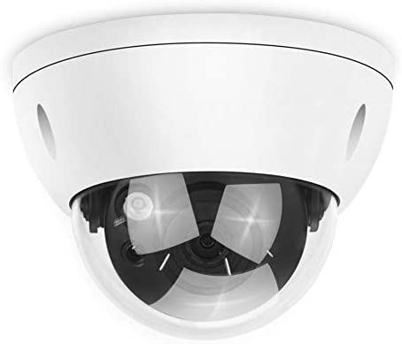 6MP Outdoor Security PoE IP Camera HDBW4631R-S, 2.8mm Fixed Lens,Network Surveillance Camera Dome,Built-in SD Card Slot,30m Night Vision, H.265,IP67,IK10 ONVIF