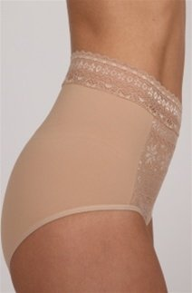- DuMi shapewear Firm Control Hi Cut Brief Panty (584) S/Black