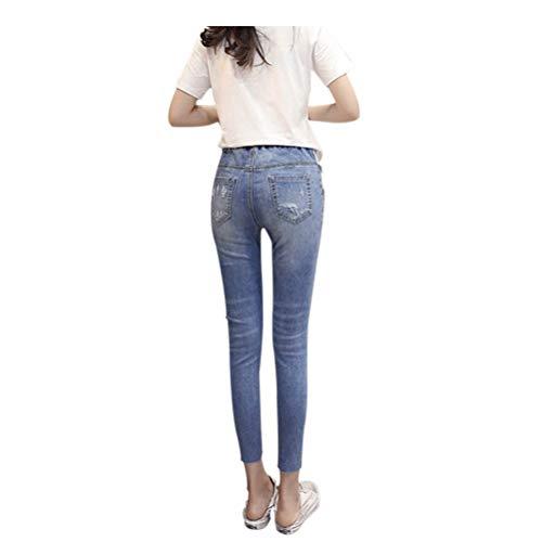 Elastica 17 Jeans Stile Maternità Ventre Nuovo Xinvision Donna Pantaloni Premaman Del Cura Leggings Pw44q71t0