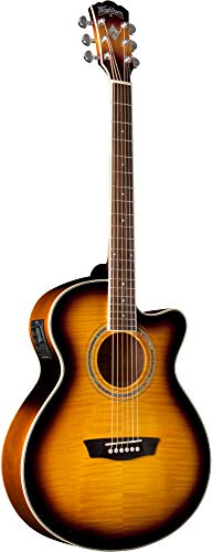 Washburn Festival EA15 Mini Jumbo Cutaway, Acoustic Electric Guitar -