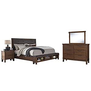 Signature design by ashley ralene bedroom set with queen bed nightstand dresser for Ashley furniture ralene bedroom set